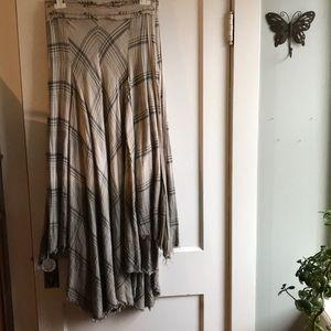 Free people plaid ombré maxi skirt